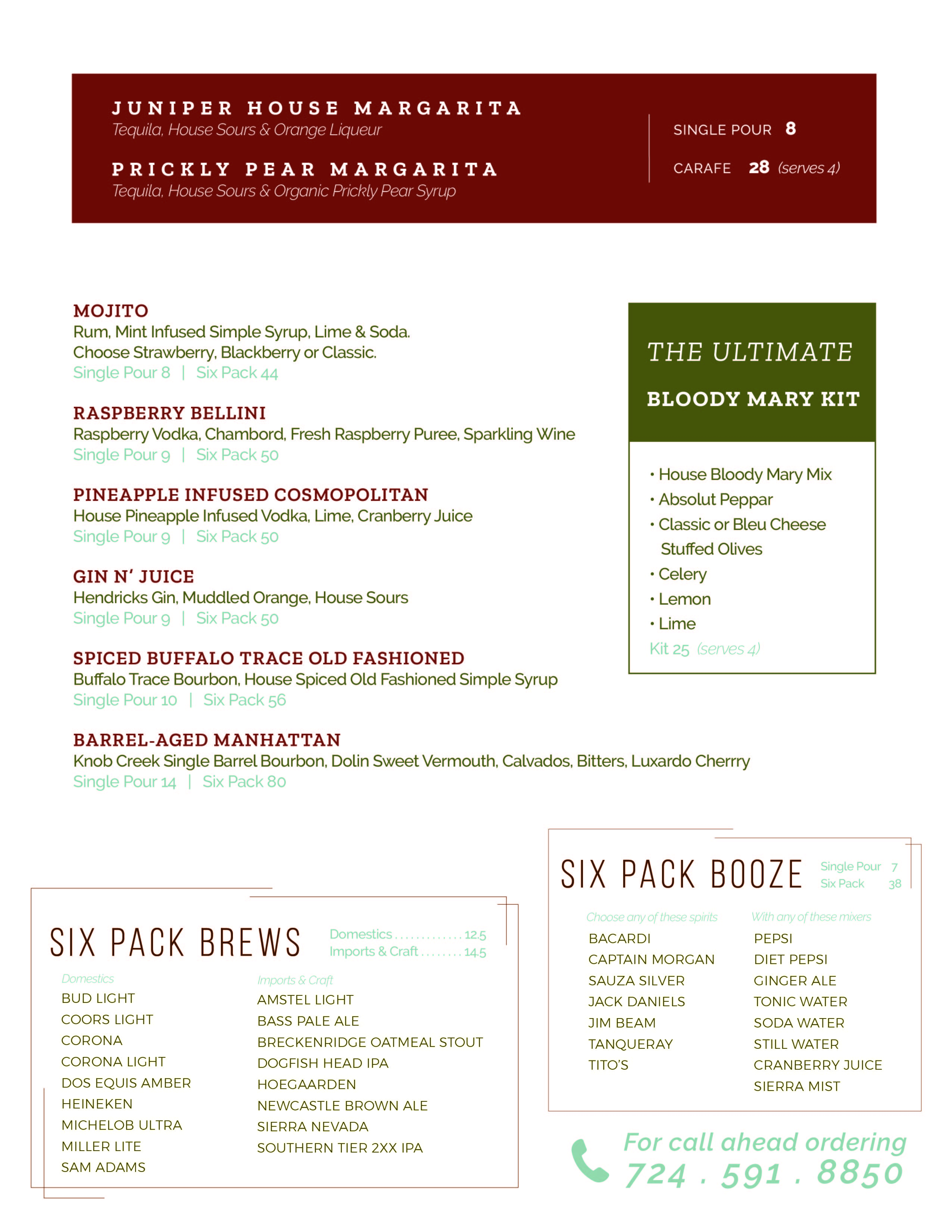 All Day Cocktails-To-Go Menu